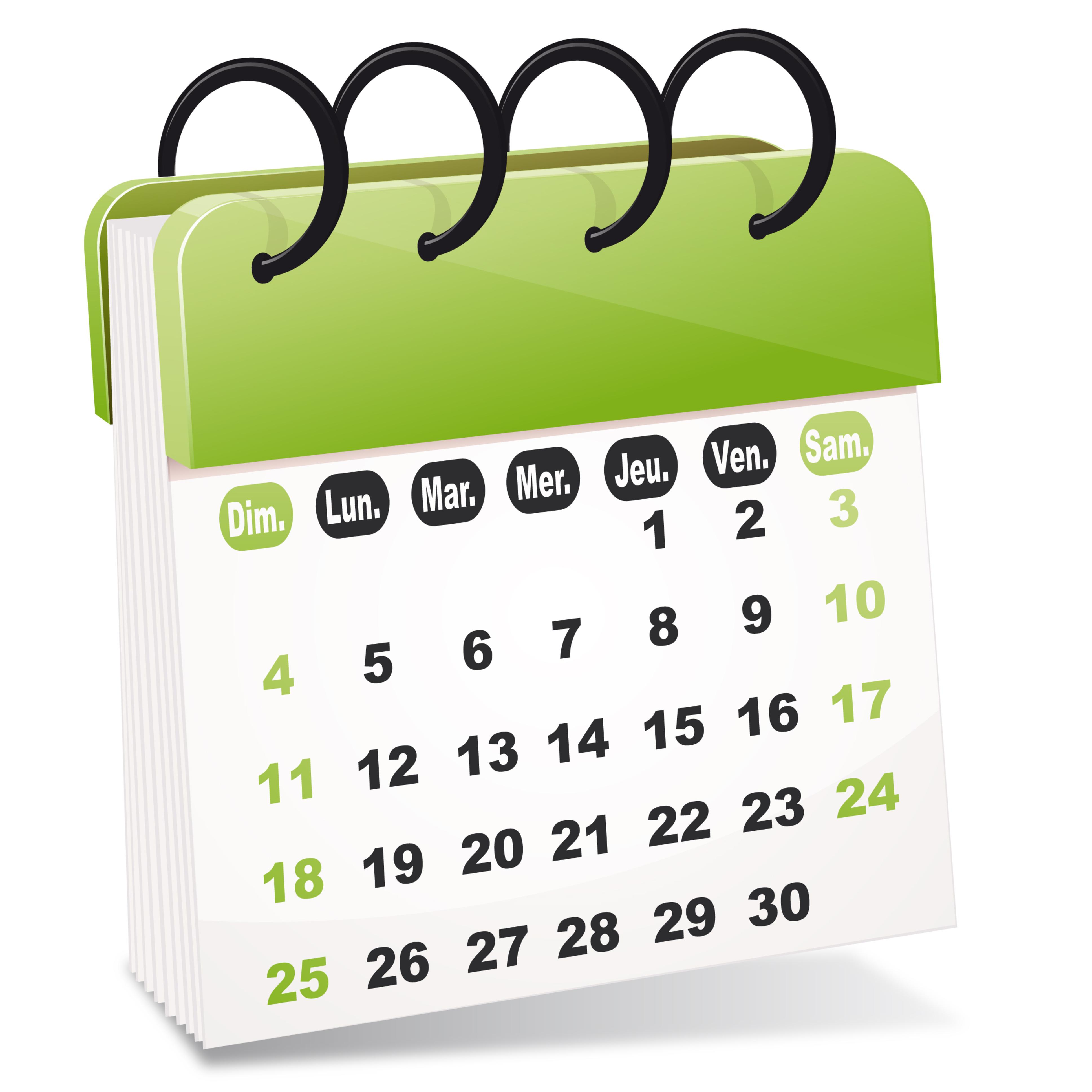 agenda calendrier 2019 à imprimer gratuit images et fichier excel